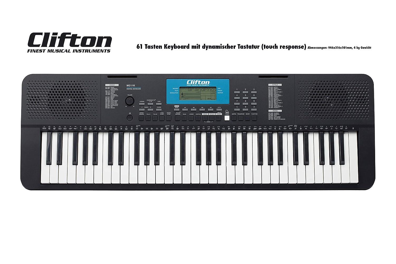 Teclado electrónico LP6210C, USB, MIDI, 61 teclas, dinámica de copia, enganche, alimentación: Amazon.es: Instrumentos musicales
