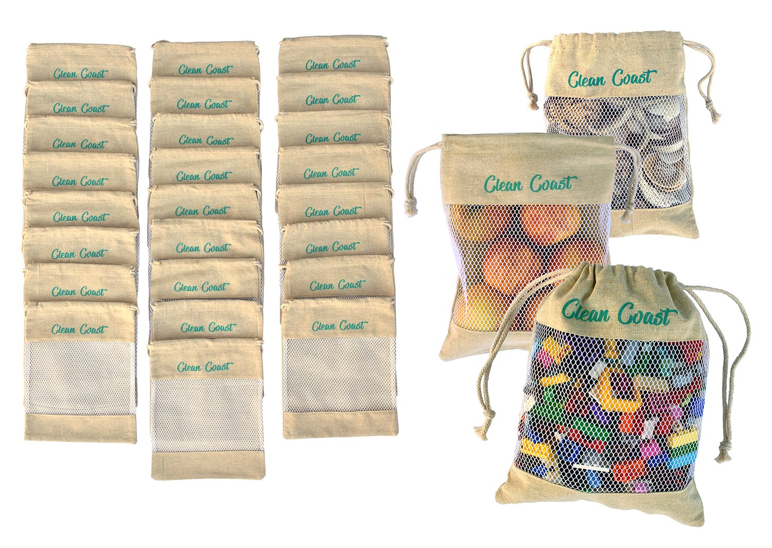 Reusable Natural Jute All Purpose 8x10'' Draw String Bags (25 Pack) Our Strong Stitched Bags are Used for; Party & Favor Bags, Arts & DIY Crafts, Toys, Rocks & Shells, Wedding & Birthday Gift Bags