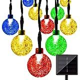 LightsEtc Solar String Lights 15.7 Feet 20 LED Crystal Ball for Garden,Yard, Home Decorations