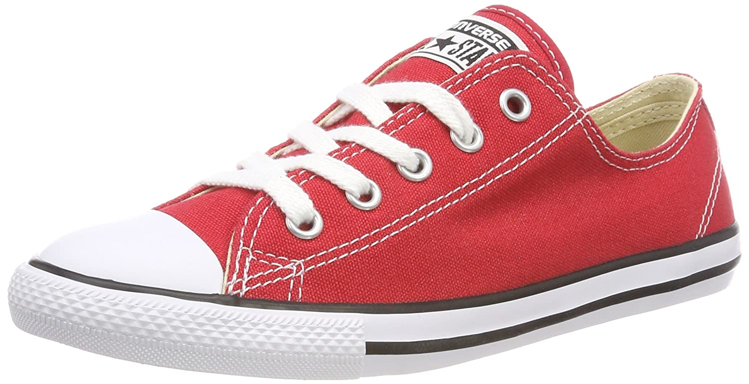 b7d6dc31b0d8 Converse Women s All Star Dainty Ox Trainers Red White  Amazon.co.uk  Shoes    Bags