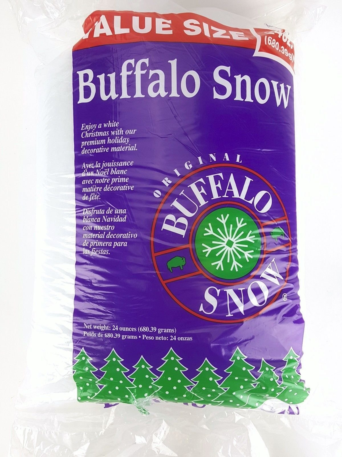 Original Buffalo Snow Crafts Pillow Blanket Village Snow Christmas Decoration Jumbo 24 oz Value Bag