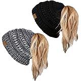 Ready to Ship Bun Hat Pink Winter Hat Adult Bun Beanie Messy Bun Top Knot Beanie Brown Cupcake Bun Beanie Ponytail Beanie