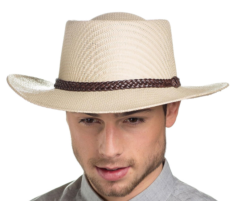 Mens Greg Planter Panama Style Straw Summer Hat 15018 M//L 58cm