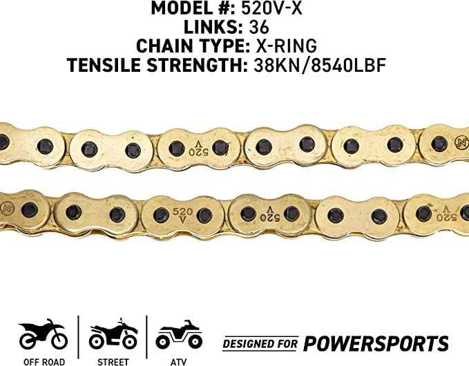 D.I.D MXH-002OEM-1 520DZ2 Gold Chain and 13 Teeth//48 Teeth Sprocket Kit