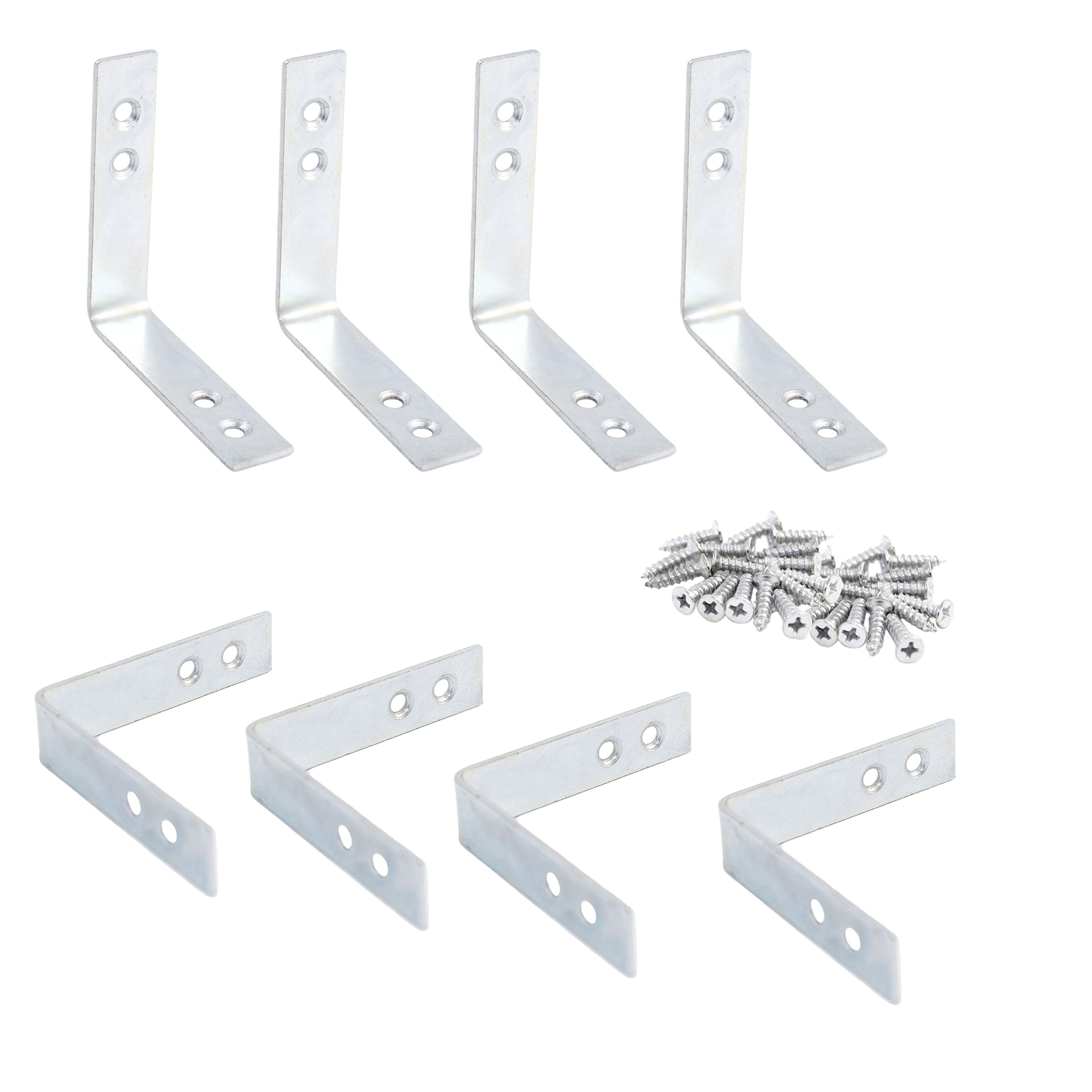 Pack of 8 Corner Brackets with Screws Included