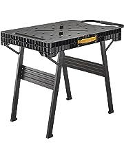 Stanley FatMax klappbare Werkbank (bis 455kg belastbar, mit Metallbeinen für höchste Stabilität, große Arbeitsfläche, mit praktischem Tragegriff, für schnellen Aufbau) FMST1-75672