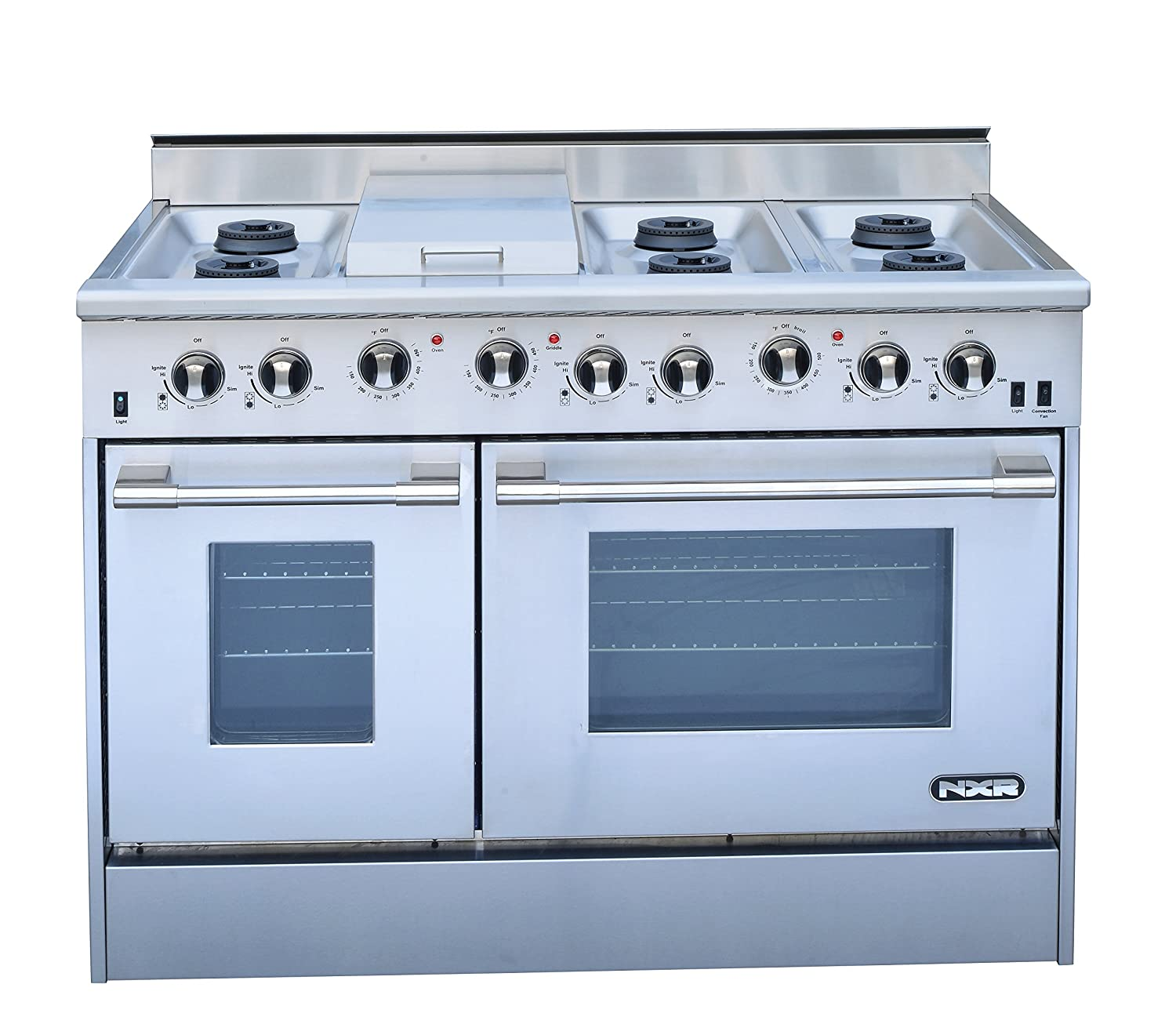 Amazon.com: NXR DRGB4801 Professional Style Gas Range, 48 ...