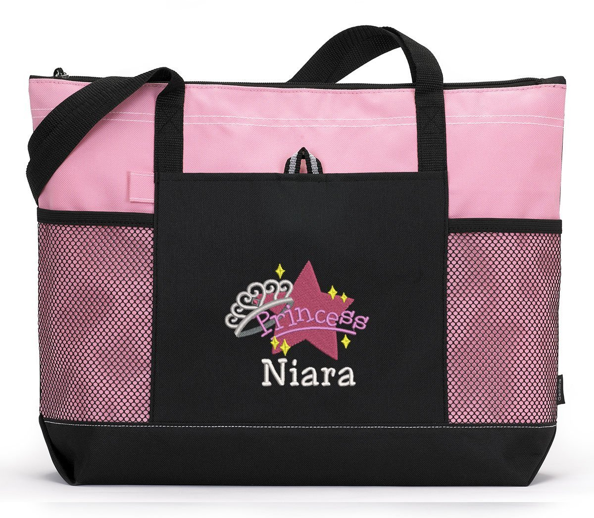 Princess Baby Girl Alternative Diaper Bag Personalized Embroidered Tote