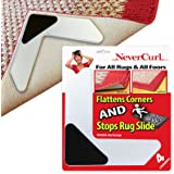 3 Layer Rug Grippers Only by NeverCurl - Instantly Stops Slipping and has Stiff Layer to Prevent Curling - USA Patented - Eas