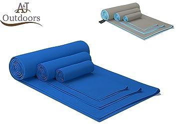 ANJ Outdoors Premium toalla de microfibra/Toalla de viaje/deporte toalla con bolsa de