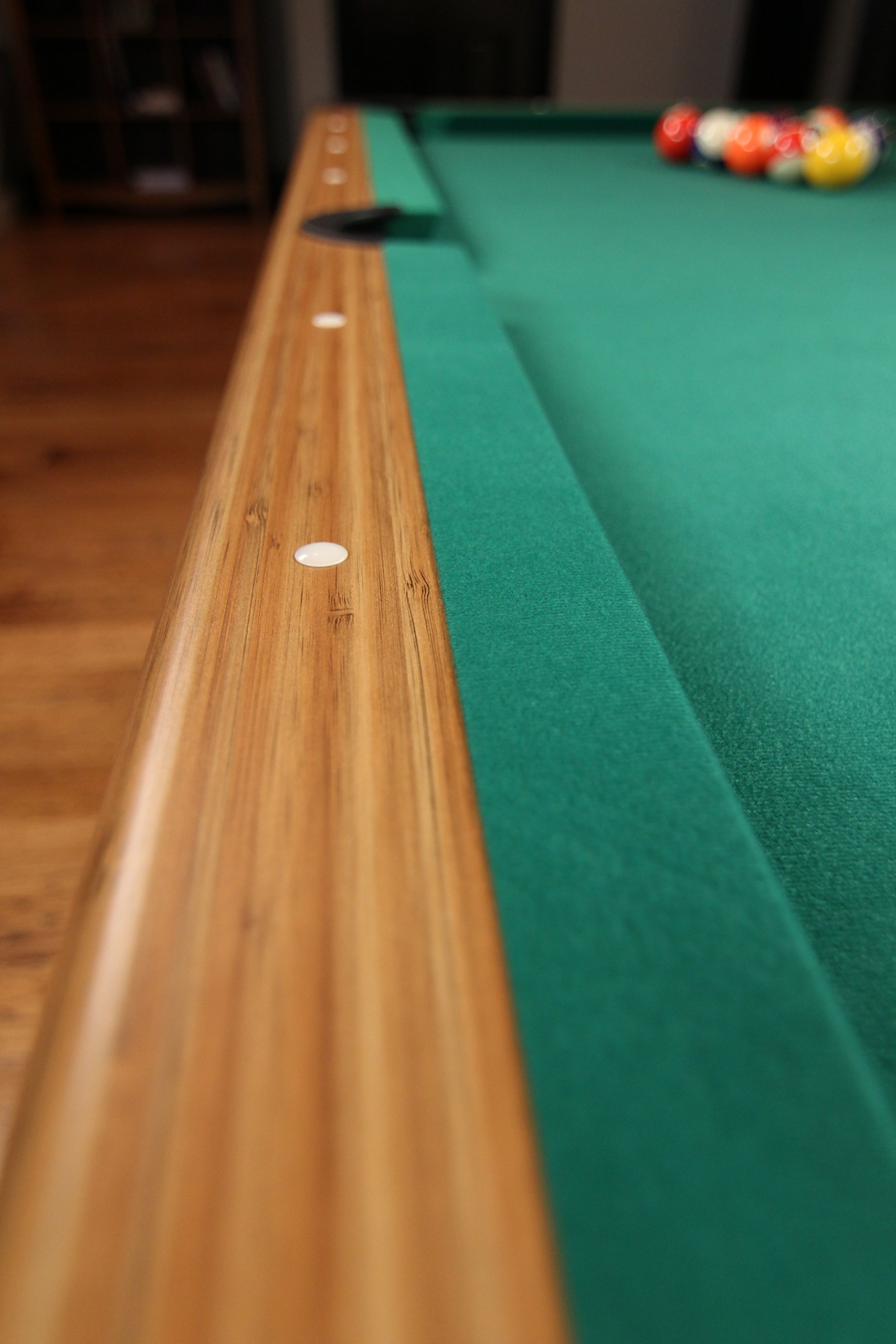 Mizerak Dynasty Space Saver 6.5' Billiard Table with Compact Design to Fit in Smaller Rooms, Leg Levelers for Perfectly Even Playing Surface, Double-sealed MDF Play-bed for Consistent Roll and Automatic Ball Return for Quick Game Reset by Mizerak (Image #10)