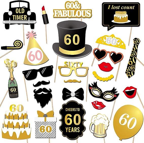 Qpout Decoraciones de 60 cumpleaños, 60 años Banner | 18 Globos ...
