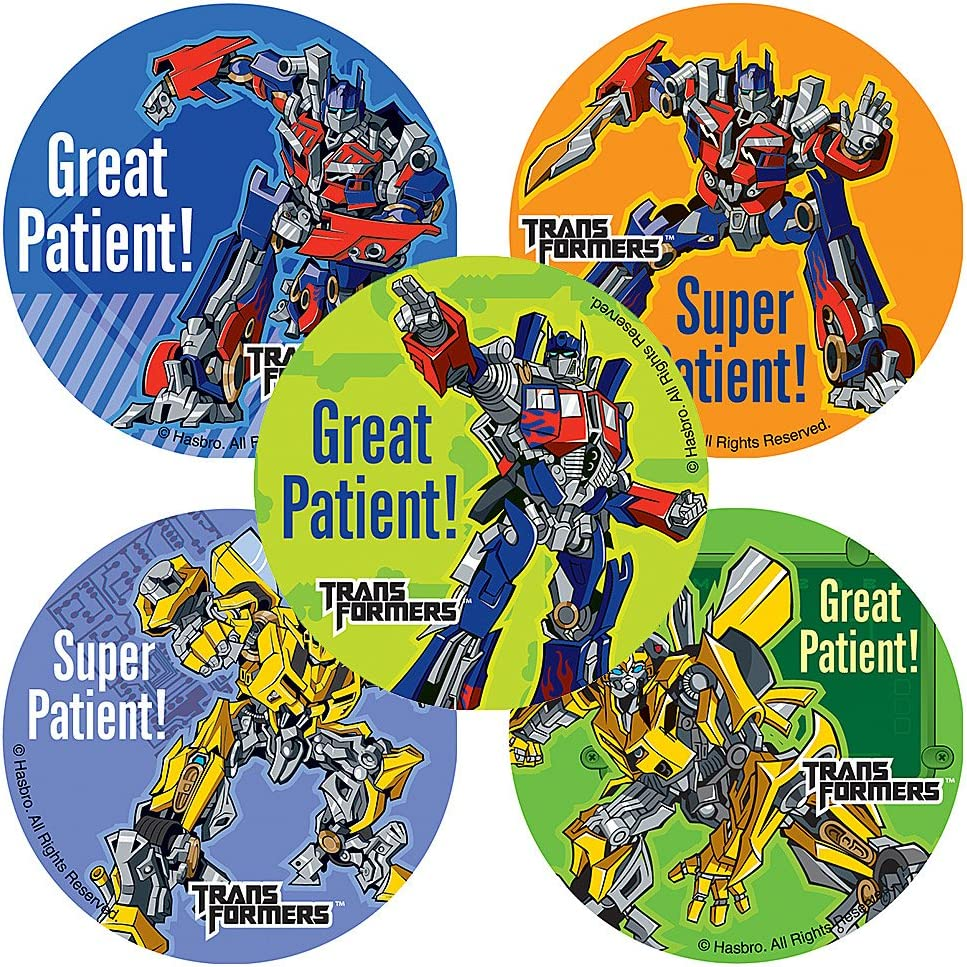 SmileMakers Transformer Patient Stickers - 100 Per Pack
