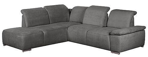 Cavadore Polsterecke Tabagos / Funktionssofa Mit Ottomane Links / Modernes Sofa  Mit Sitztiefenverstellung/ Armteilfunktion /