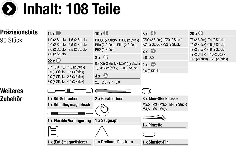 Utensili Manuali E Elettrici Occhiali Articolo 3387780 Consolle Tablet Macchine Fotografiche Pc Kit Di Riparazione Per Smartphone Meister Set Da 108 Pezzi Per Meccanica Di Precisione Modellismo Ecc Set Di Cacciaviti Di