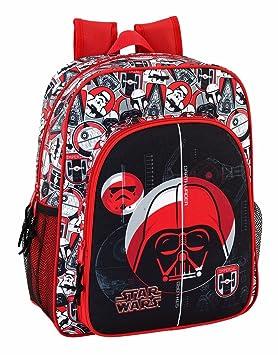 "Safta Mochila Escolar Junior Star Wars ""Galactic Mission"" Oficial 320x120x380mm"