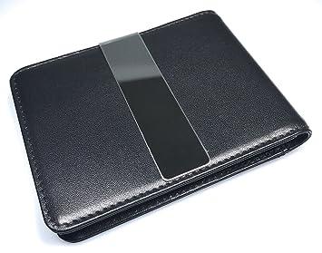 Cartera mini de diseño para caballeros original MOORINO con pinza para billetes, tarjetero con clip para billetes y protección RFID.