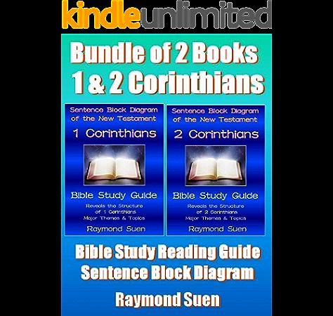 1 & 2 Corinthians - Bundle of 2 Special - Sentence Block Diagram Method of  the New Testament Holy Bible: Bible Reading Guide - Reveals Structure,  Major Themes & Topics (Bible StudyAmazon.com