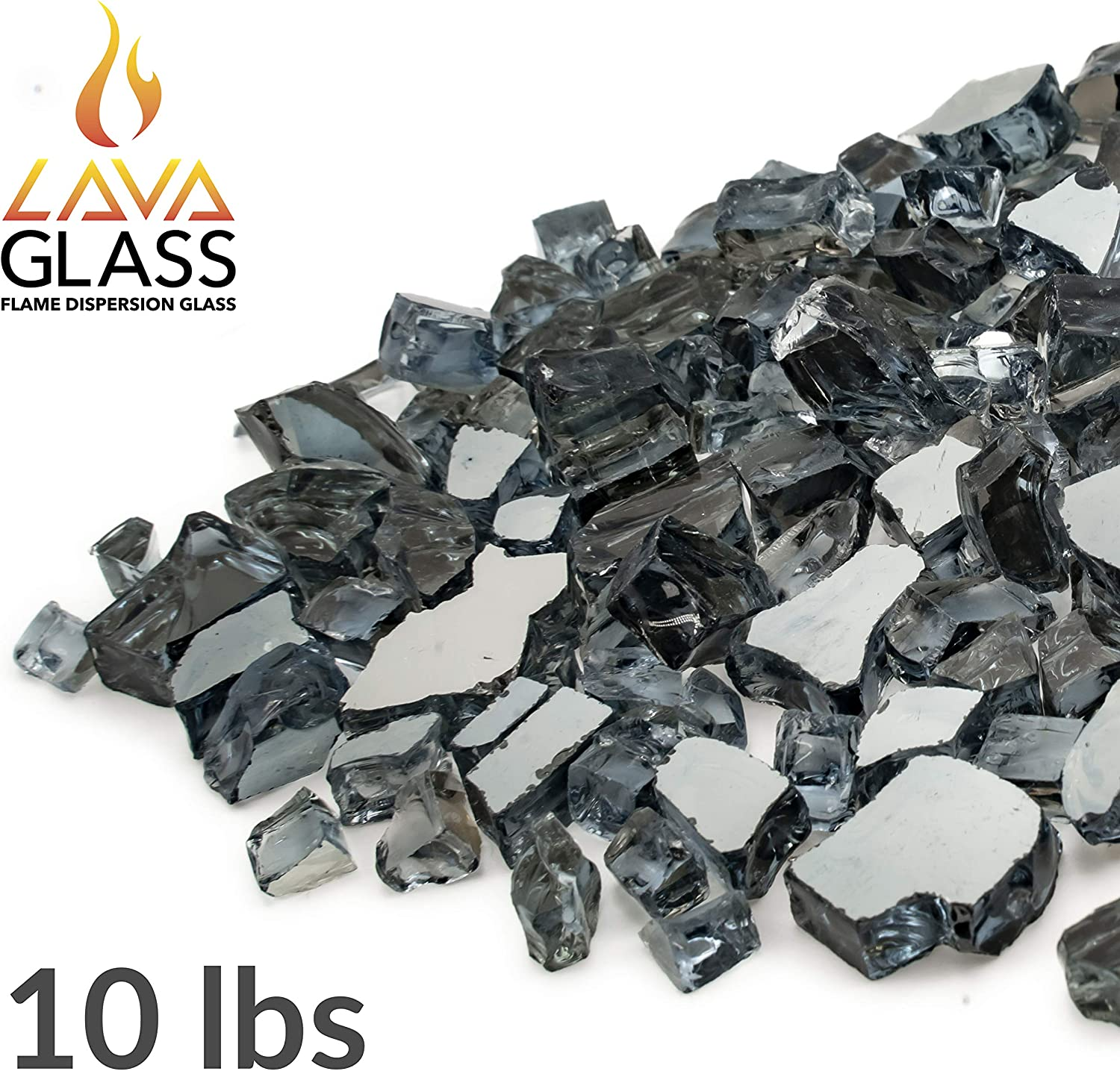 Bond Manufacturing 50698 LavaGlass Classic Cut Fire Pit Dispersion Glass, Moonstone Eclipse