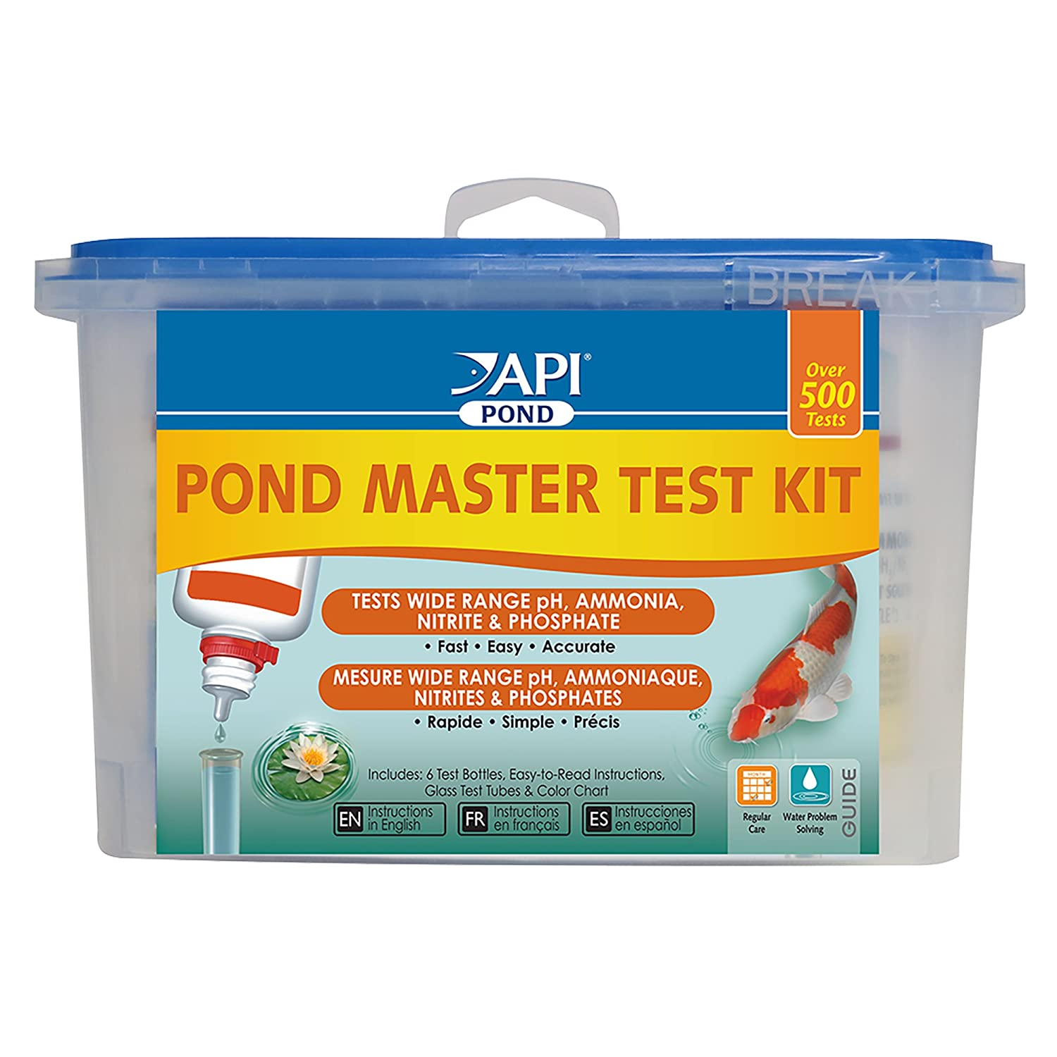 b068f1160812b Amazon.com   API POND MASTER TEST KIT Pond Water Test Kit 500-Test ...
