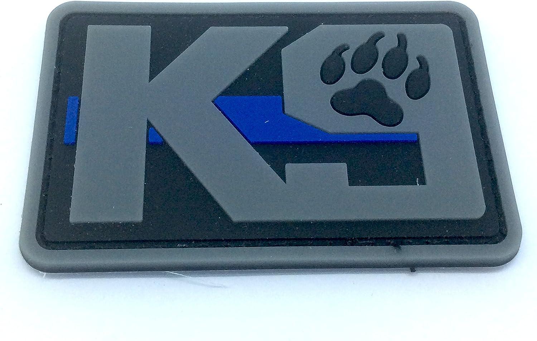 K9 delgada línea azul Policía Perro para Airsoft y Paintball PVC parche de moral, caucho, rojo, 80mm x 50mm: Amazon.es: Deportes y aire libre