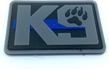 K9 delgada línea azul Policía Perro para Airsoft y Paintball PVC parche de moral, caucho, gris, 80mm x 50mm: Amazon.es: Deportes y aire libre
