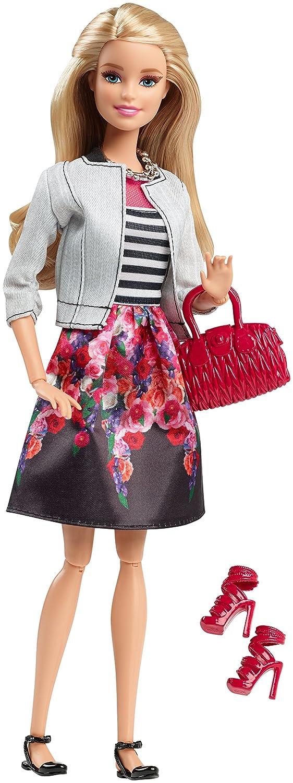 Uncategorized Barbie Skirt amazon com barbie style doll white jacket black floral print skirt toys games