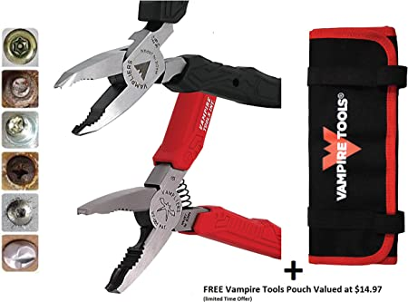 4-PC Set S4BP Specialty Screw Extraction Pliers VamPLIERS World/'s Best Pliers