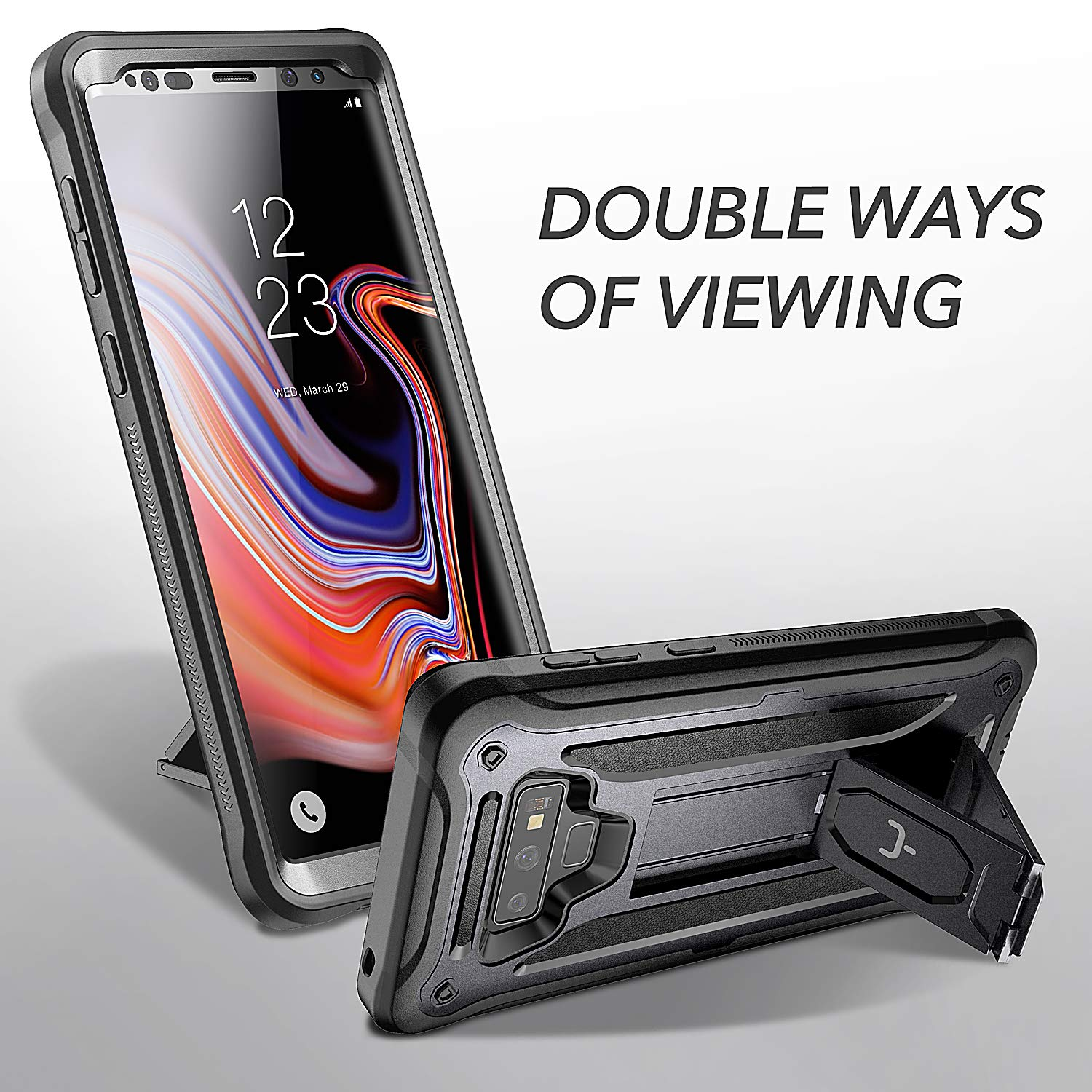 release date: 55b9f 9db85 YOUMAKER Kickstand Case for Galaxy Note 9, Full Body with Built-in Screen  Protector Heavy Duty Protection Shockproof Rugged Cover for Samsung Galaxy  ...