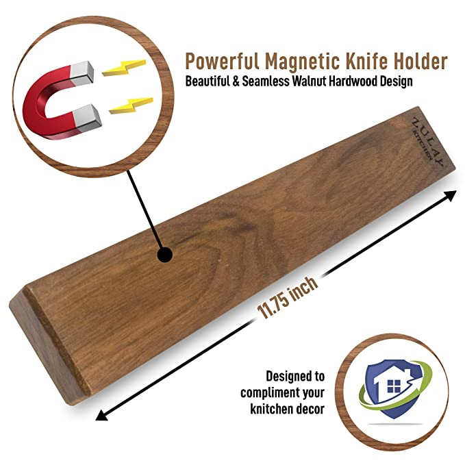 Amazon.com: Zulay - Soporte magnético para cuchillos de ...