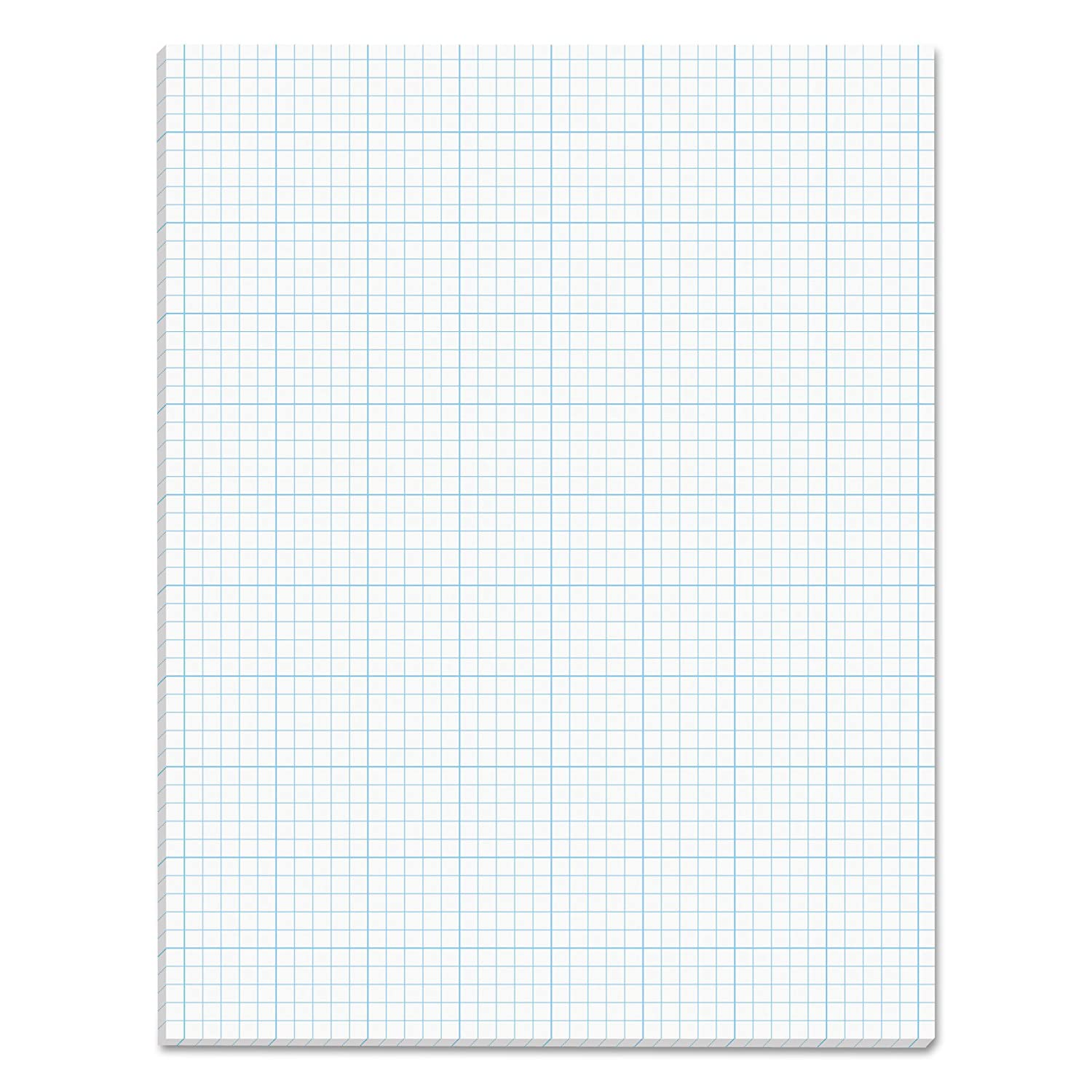 TOPS Cross Section Pad, 1 Pad, 10 Squares/Inch, Quadrille Rule, Letter Size, White, 50 Sheets/Pad, 1 Pad (35101)