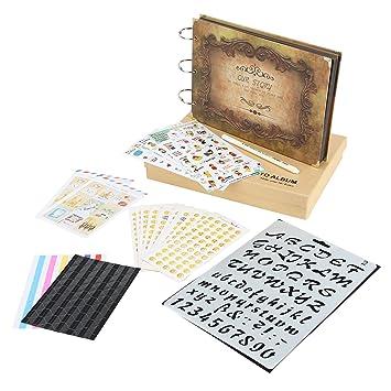 Amazon De Xiujuan Scrapbook Album Mit Geschenkbox Und Zubehor