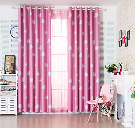 Amazon.com: 1 Panel Pink Room Darkening Curtains for Girls Living ...