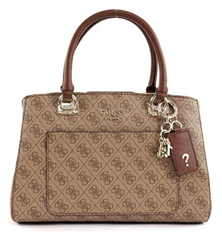 6055b0812b9 GUESS Kathryn Girlfriend Satchel Brown: Amazon.co.uk: Shoes & Bags
