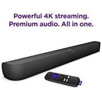 Roku Smart Soundbar with built-in 4K Streaming Media Player
