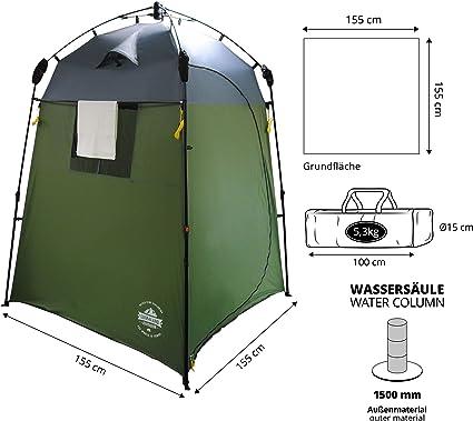 Lumaland Outdoor Pop Up Tienda de campaña Ducha Aseo Privacidad Camping 155x155x220 cm varos Colores