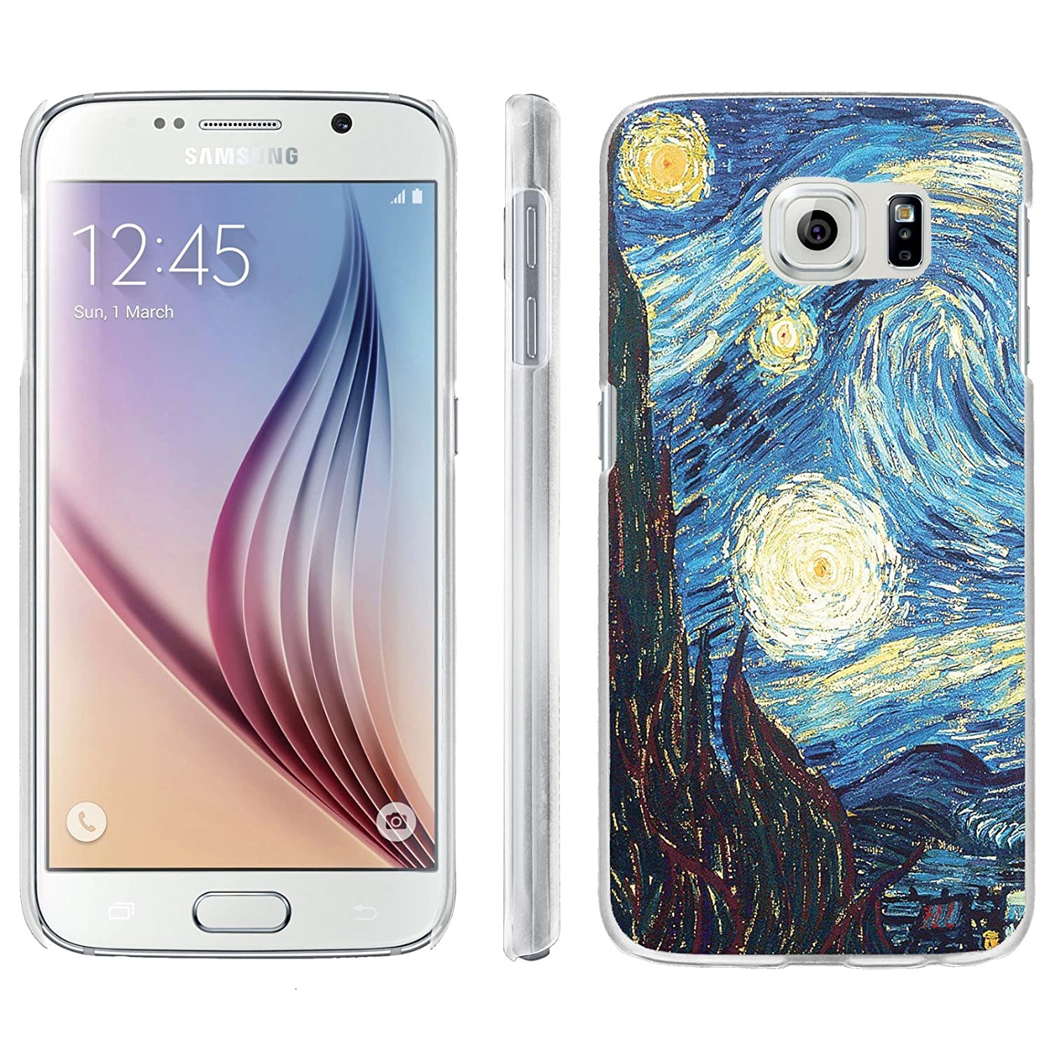 buy popular ac16c fccaa [ArmorXtreme] Phone Case for SAMSUNG GALAXY S6 [Matte] [Ultra Slim Cover  Case] - [Starry Night Van Gogh]