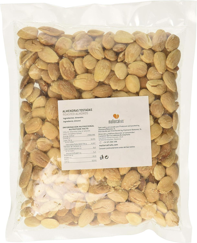 Mallorcafruits Almendras Tostadas sin Piel - 500 gr: Amazon ...
