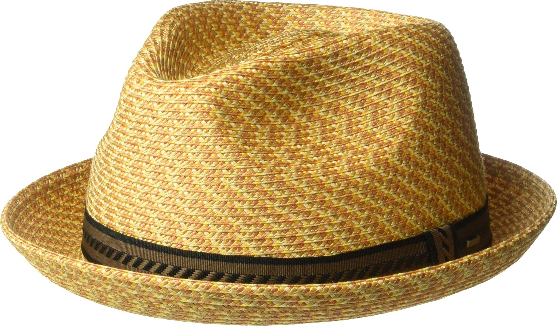 Bailey of Hollywood Men's Mannes Braided Fedora Trilby Hat, Wheat Multi, S