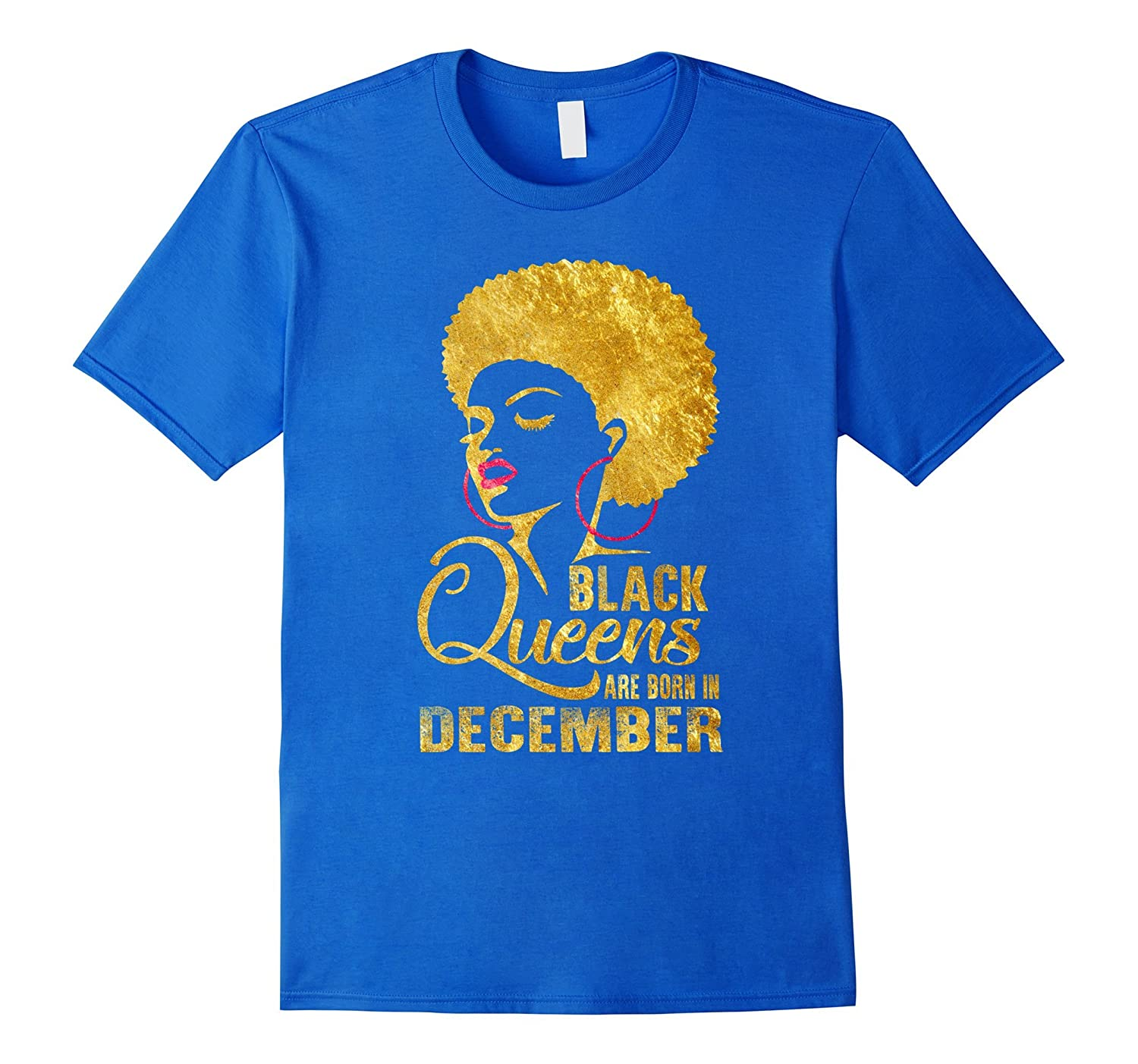 b61060834 Black Queens are Born in December T-Shirt Birthday Women's-FL ...