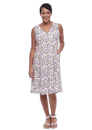 66bf984f9d7 Tulip Clothing Lagenlook Myla Dress in Purple Poppy at Amazon ...