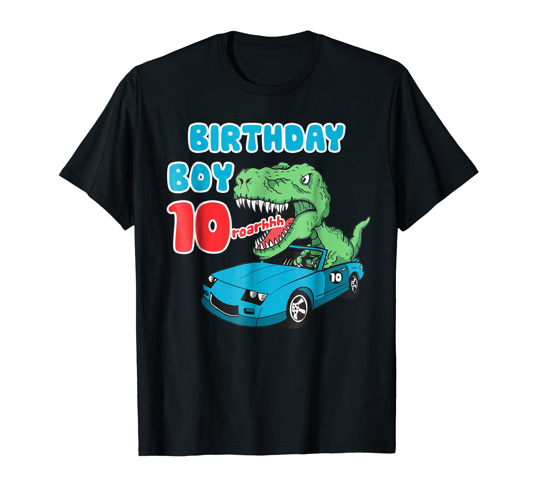 Dinosaur-Racer-Birthday-Boy-10th-Birthday-Fun-Humor-T-Shirt