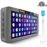 MarsAqua Dimmable 165W/300W LED Aquarium Light Lighting Full Spectrum for Fish Freshwater and Saltwater Coral Tank Blue and White LPS/SPS