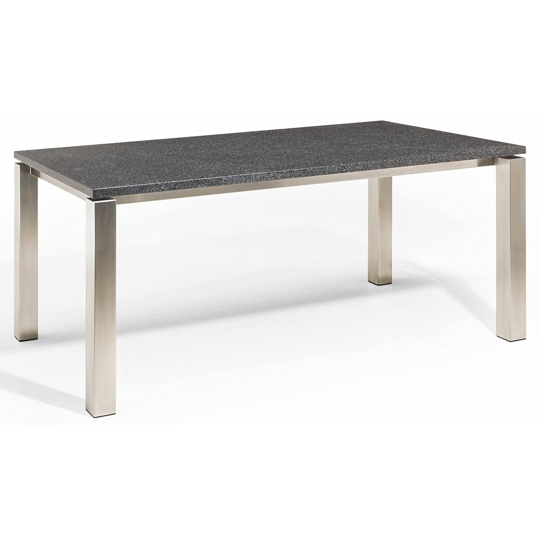 studio 20 stavanger gartentisch 200 x 100 cm outdoortisch granittisch edelstahl tischplatte. Black Bedroom Furniture Sets. Home Design Ideas