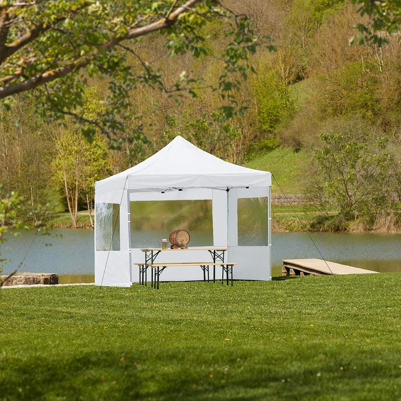 TecTake 800686 Carpa de Jardín 3 x 3m, Plegable, Aluminio, 100 ...