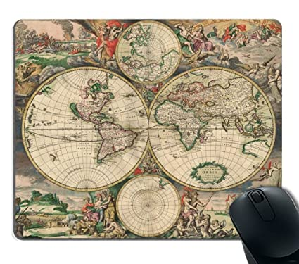 Decorative mouse pad art print vintage world map buy decorative decorative mouse pad art print vintage world map gumiabroncs Images