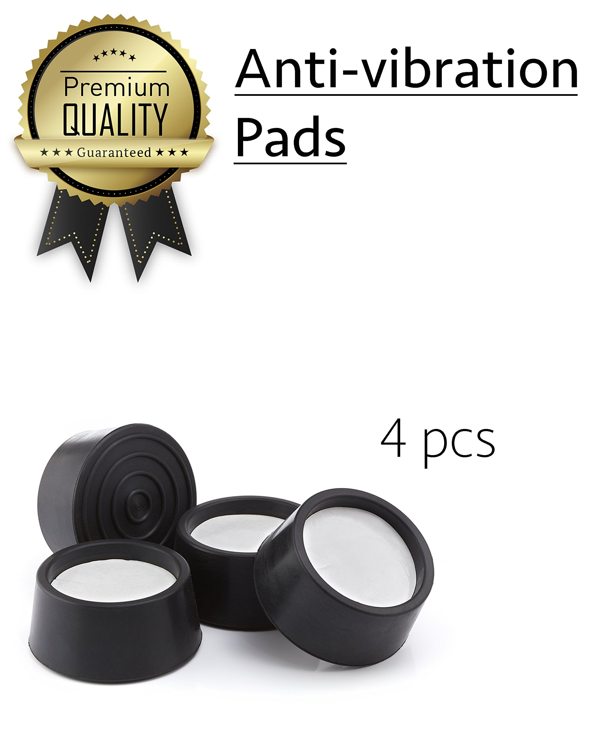 Anti-Vibration Pads For Washing Machines and Clothes Dryers - Anti-Walk Washer Vibration Pads - Noise Reducing, Shock Absorbing, Vibration Isolating Pads - No Shake Pads by No Shake Pads (Image #1)