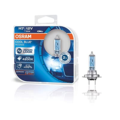 Osram Cool Blue Intense H7 Car Headlight Bulbs Twin Pack 12V55W 64210 CBI pair: Automotive