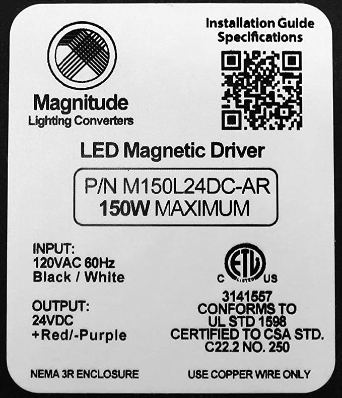 Amazon.com: 24V 150W Magnitude LED Driver Transformer by Inspired LED: Home Audio & Theater