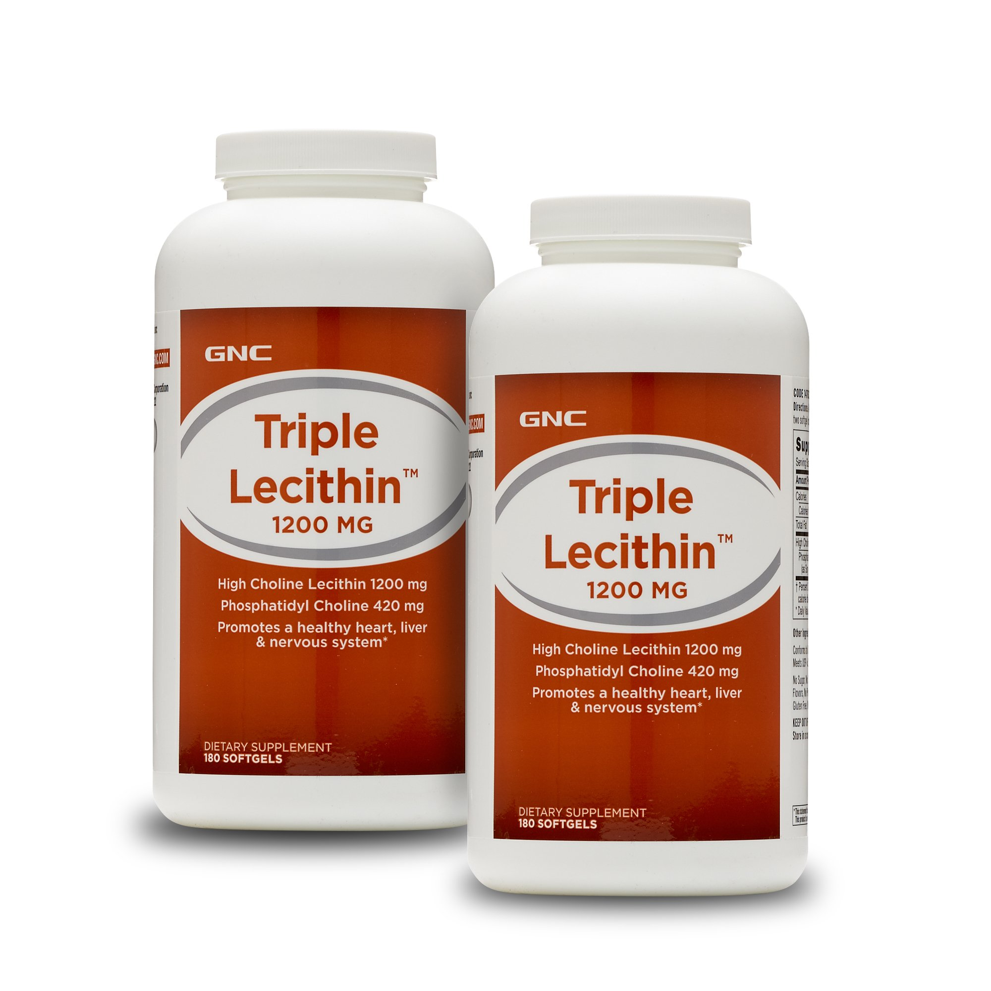 GNC Triple Lecithin 1200 MG Twin Pack by GNC (Image #1)